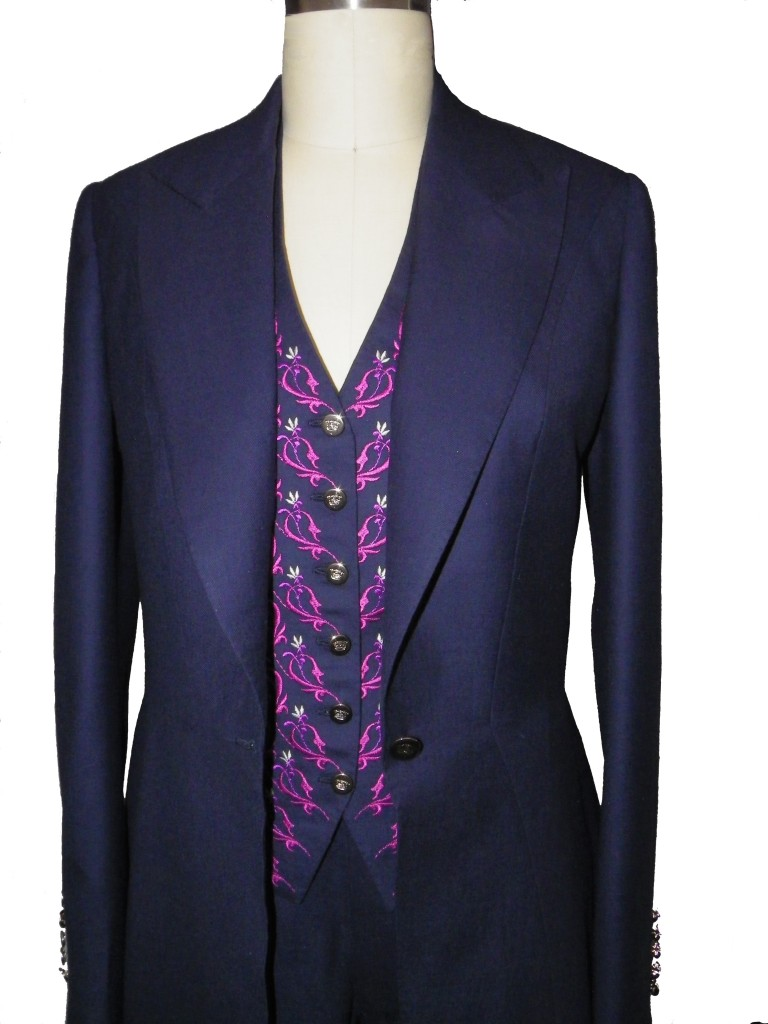 Ladies suit with Embroidered Waistcoat