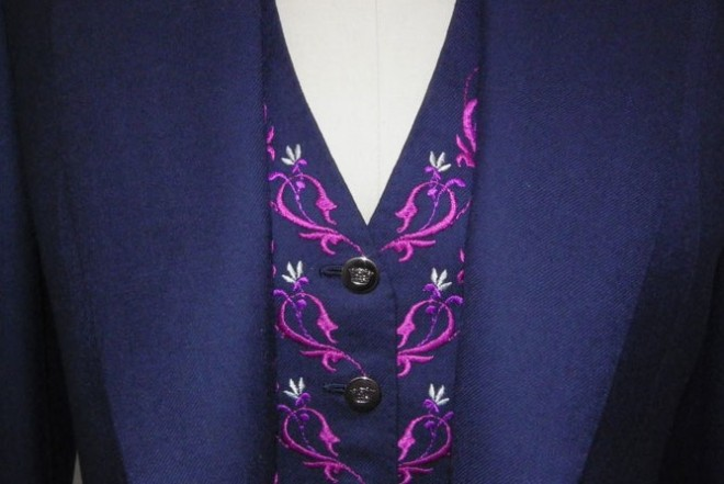 Stunning 3pc Ladies suit with Embroidered Waistcoat