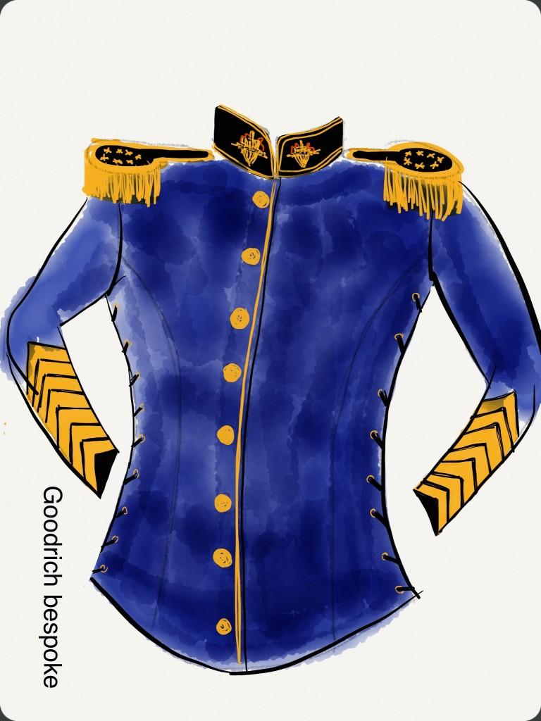 design for Commander in Chief costume