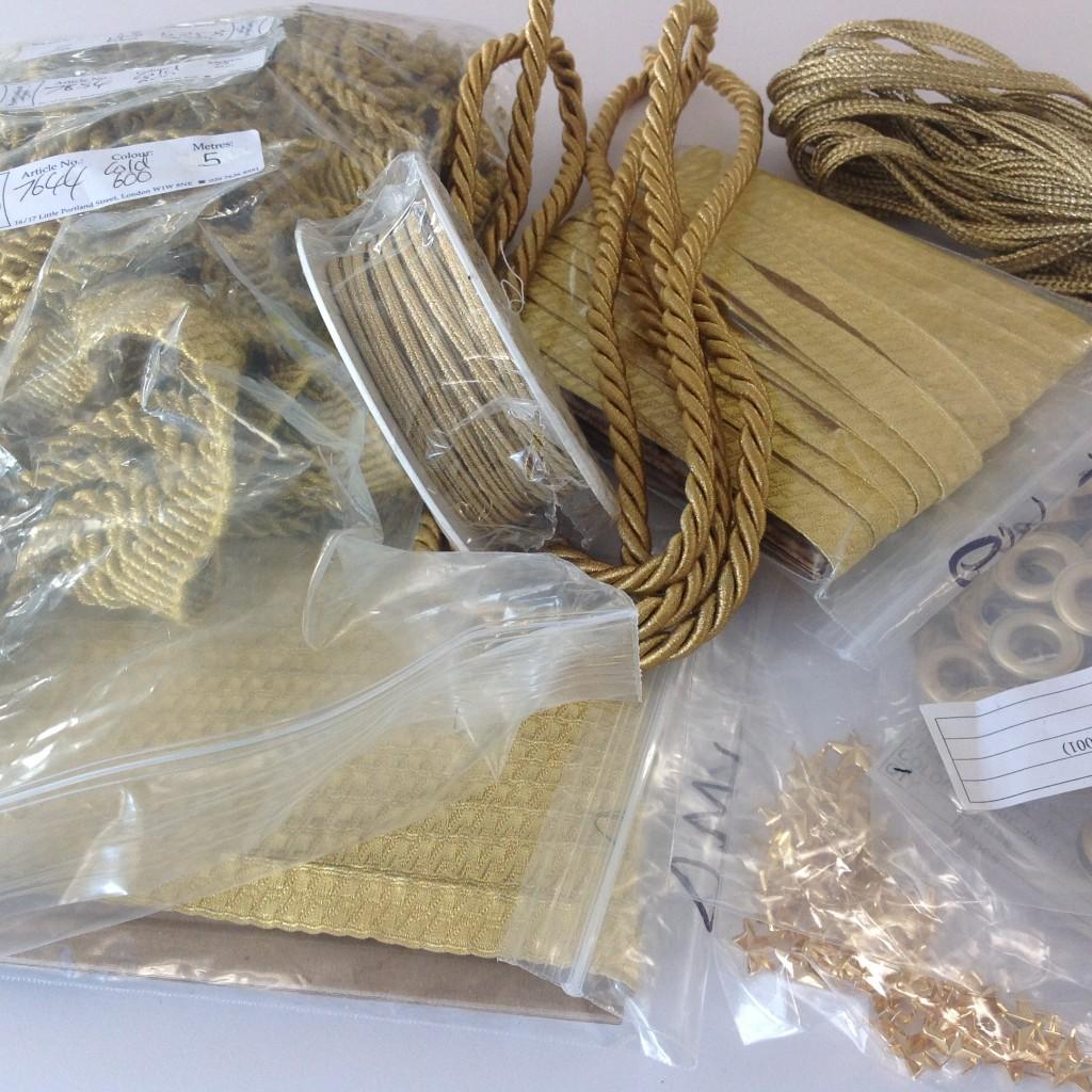 gold braids - bespoke costume