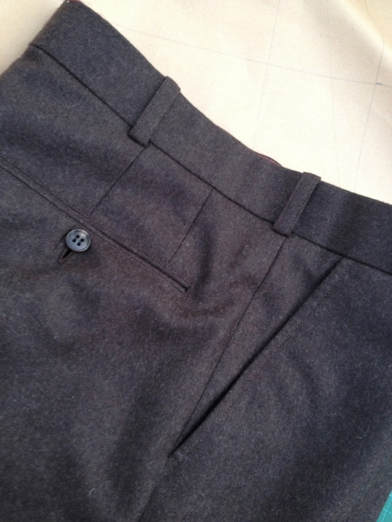 bespoke trousers from worsted flannel