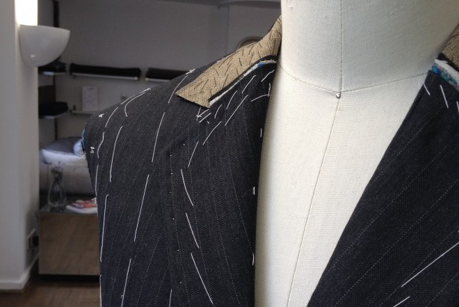 Jeremy's Charcoal Pinstripe Suit