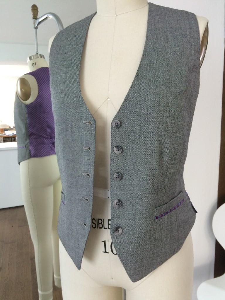 ladies bespoke waistcoat androgynous style