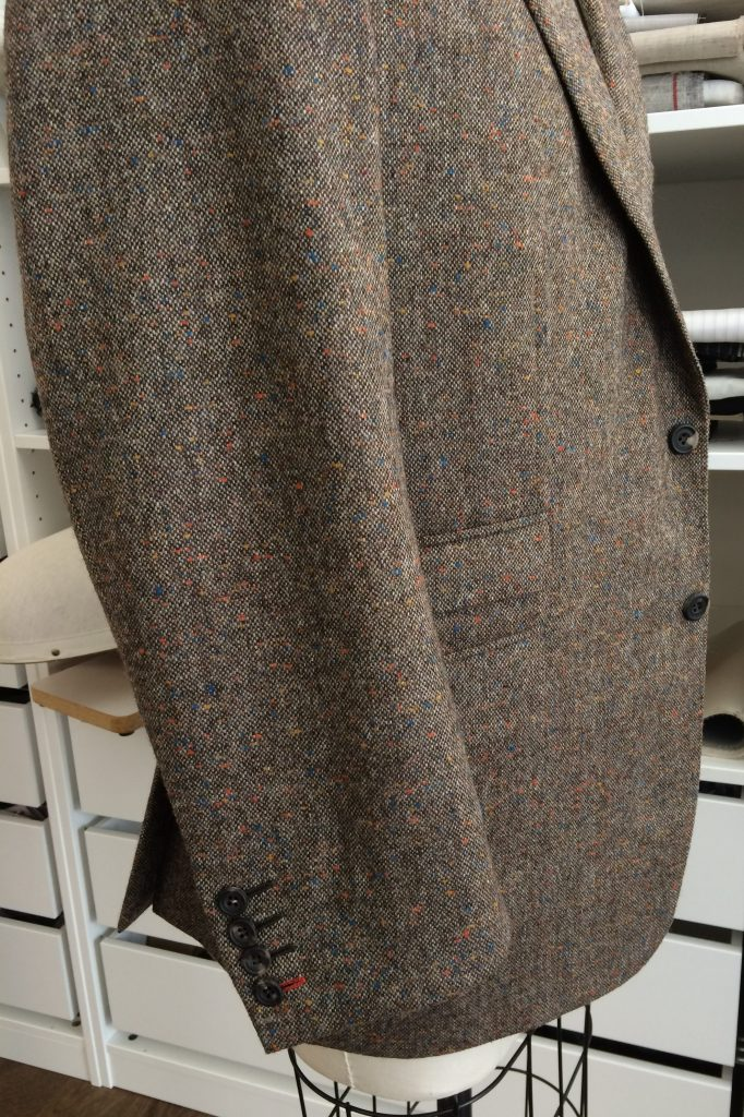 tweed blazer sleeve