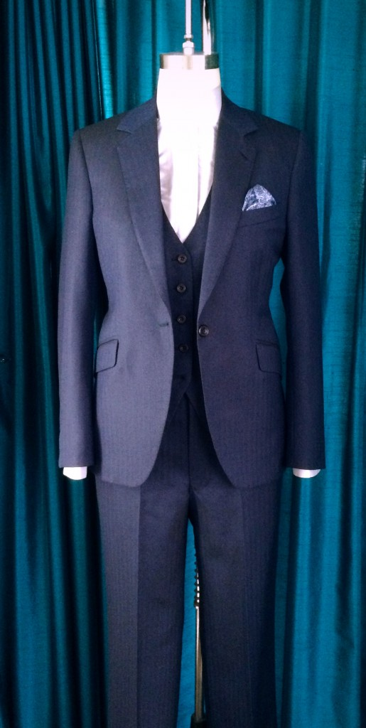 ladies bespoke wedding suit