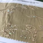 Embroidered and Beaded Silk Dupion
