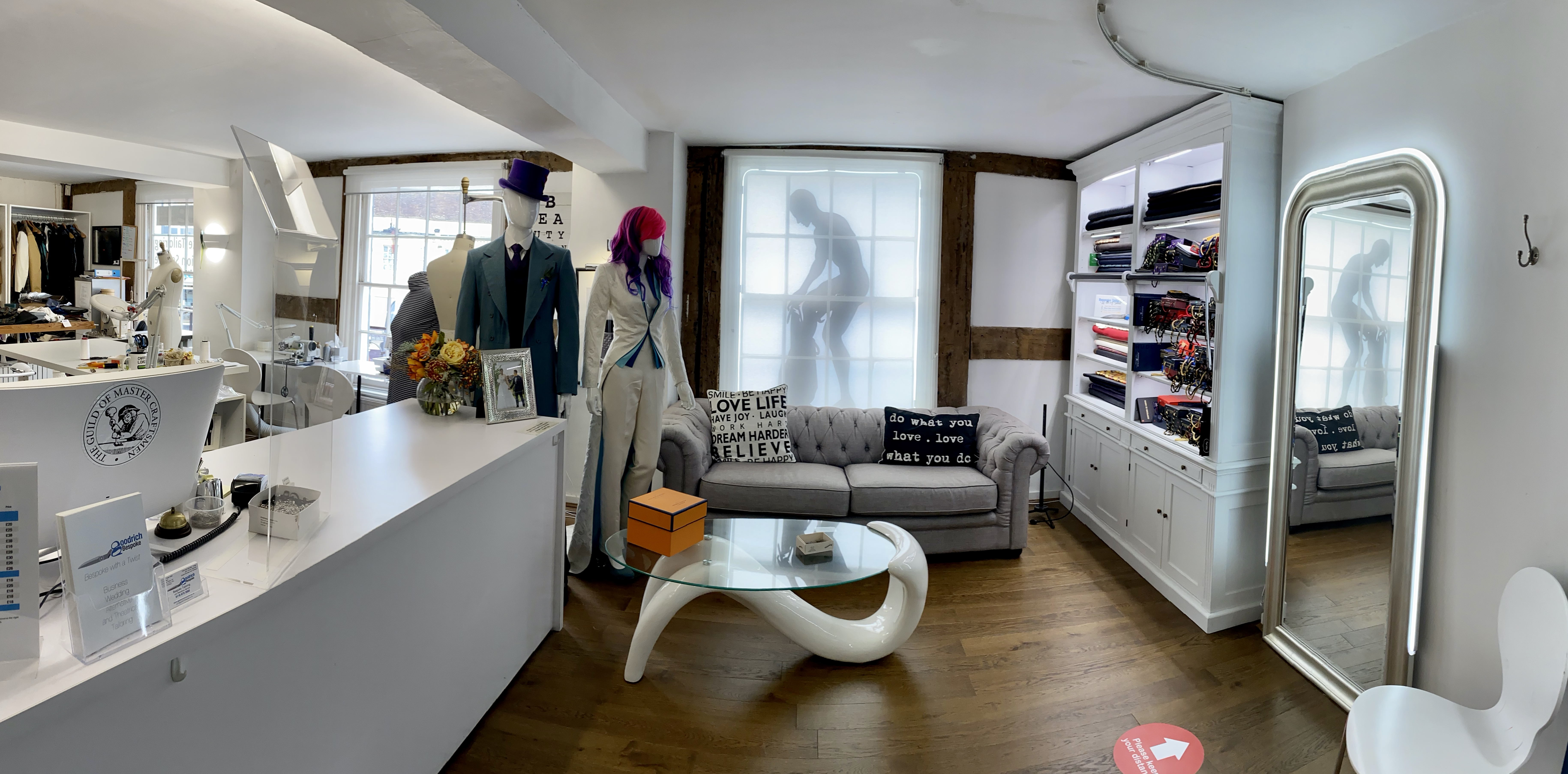 Customer area of Goodrich Bespoke providing bespoke tailoring and clothing alterations to the Wokingham and wider area